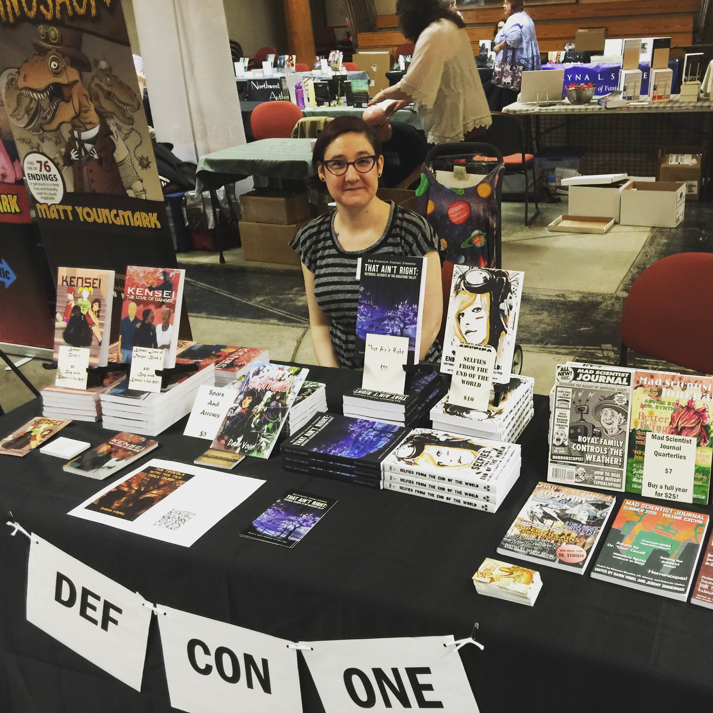 Our table at Capital Indie Book Con!