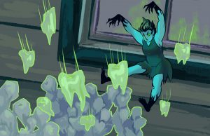 """Art for """"Tooth Fairy Experiments"""""""