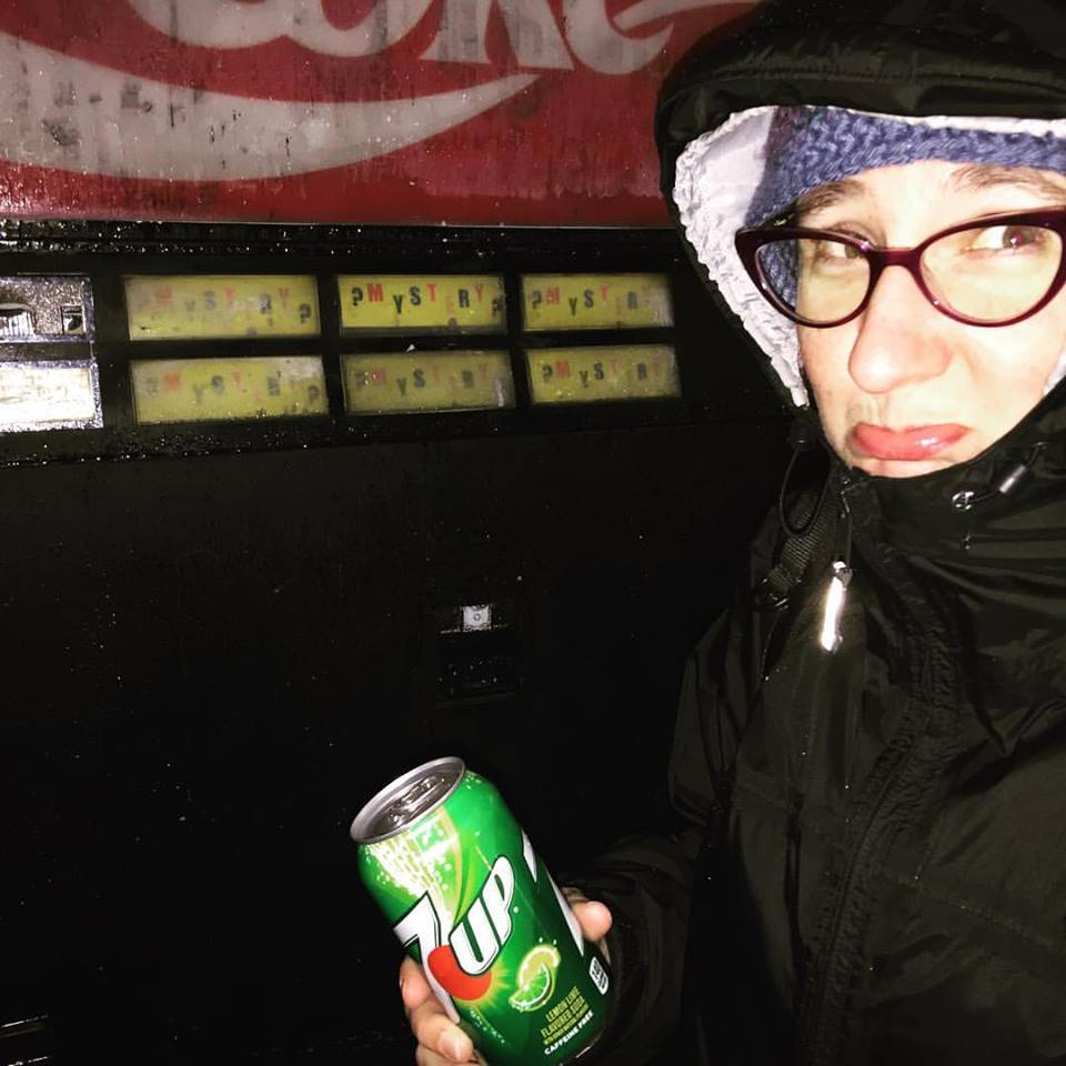 Photo of Dawn with the Mystery Soda Machine