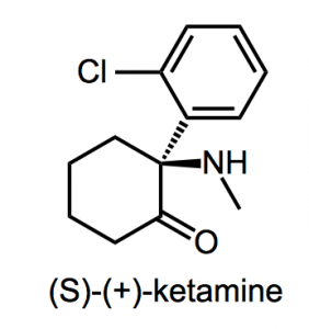 Molecular structure of ketamine