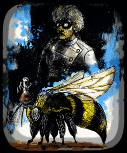 "Art for ""Genemech Announces Bio-Security Incident and Confirms Release of Giant Death Bees"""