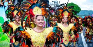 Costumes from the Ibalong Festival in the Phillipines