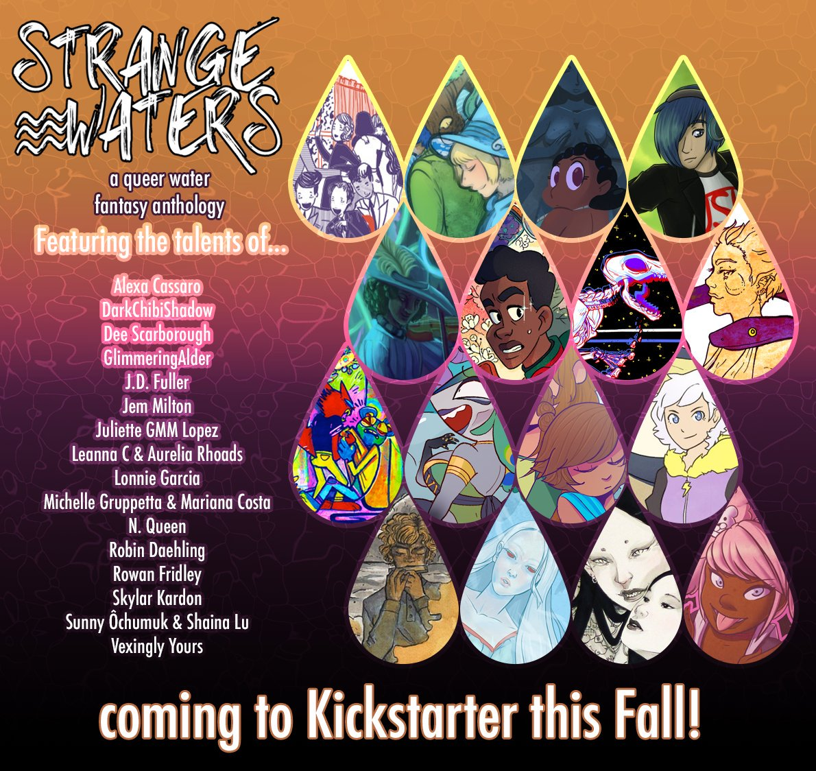 List of authors and artists for Strange Waters