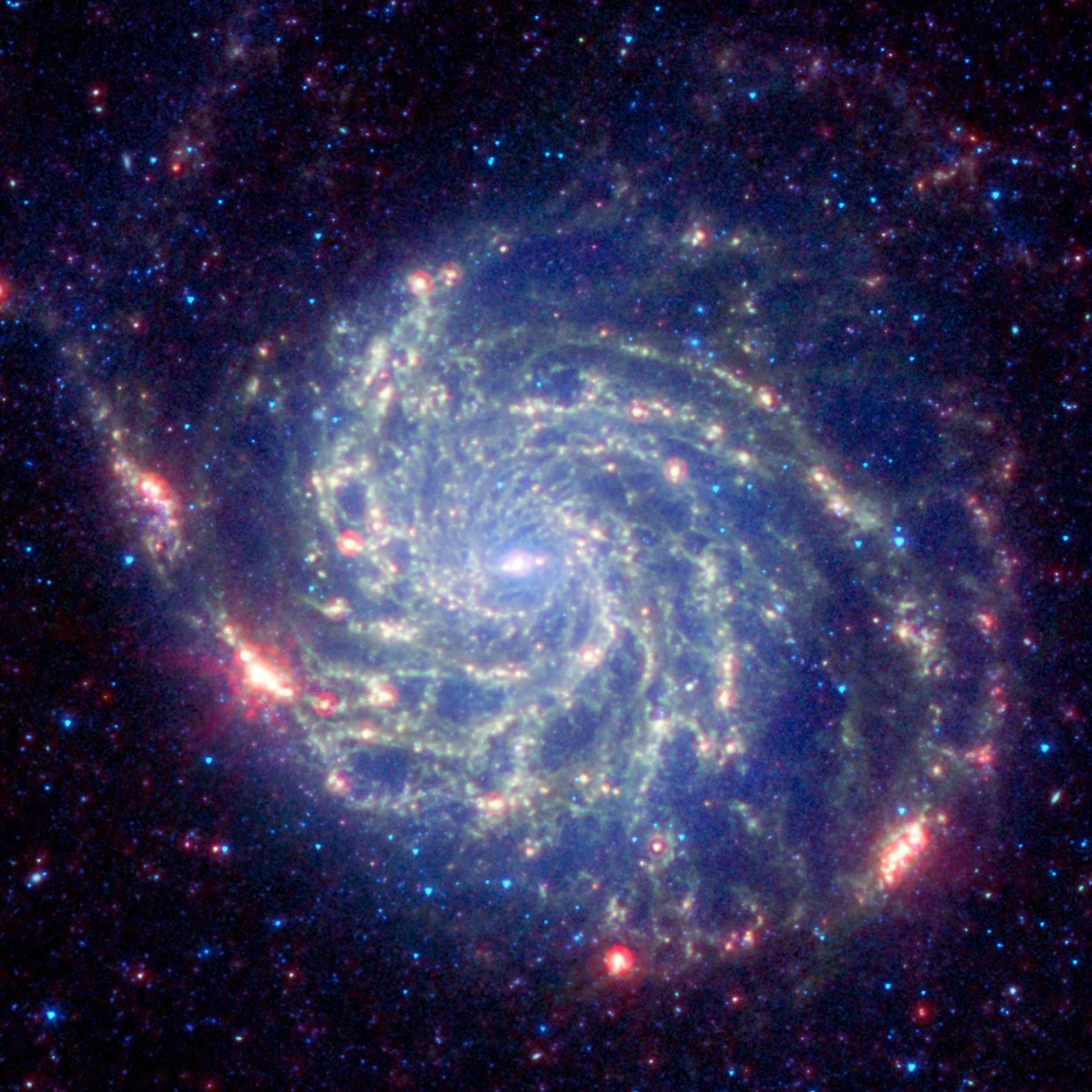 Infrared photograph of Messier 101 galaxy