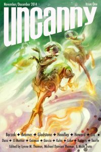 Cover art for Uncanny Magazine issue 1