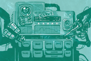 Illustration of a robot named Clive.