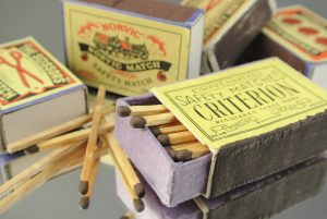 Five safety matchboxes